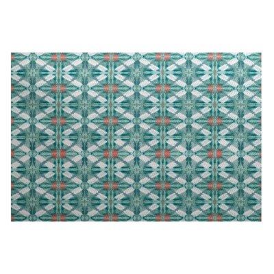 Rafia Green Indoor/Outdoor Area Rug Rug Size: 3 x 5