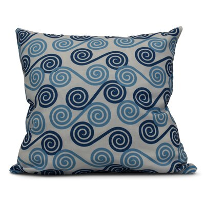 Nikkle Rip Curl Throw Pillow Color: Blue, Size: 18 H x 18 W