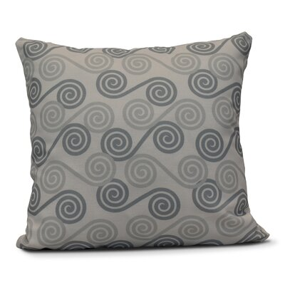 Rafia Rip Curl Throw Pillow Size: 26 H x 26 W, Color: Gray