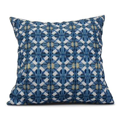 Rafia Beach Tile Throw Pillow Size: 18 H x 18 W, Color: Blue