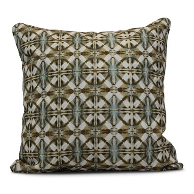 Rafia Beach Tile Throw Pillow Size: 20 H x 20 W, Color: Brown