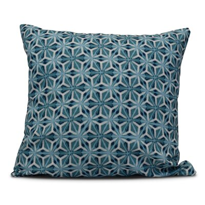 Viet Mosaic Throw Pillow Color: Teal, Size: 18 H x 18 W