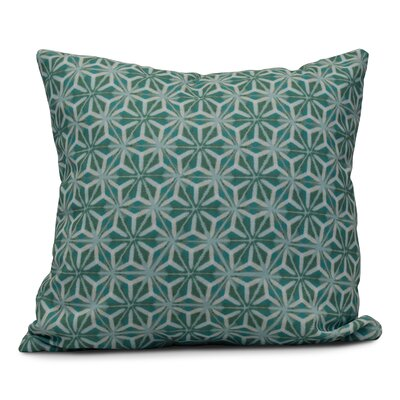 Viet Mosaic Throw Pillow Size: 18 H x 18 W, Color: Aqua