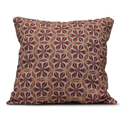 Rafia Water Mosaic Throw Pillow Size: 18 H x 18 W, Color: Purple