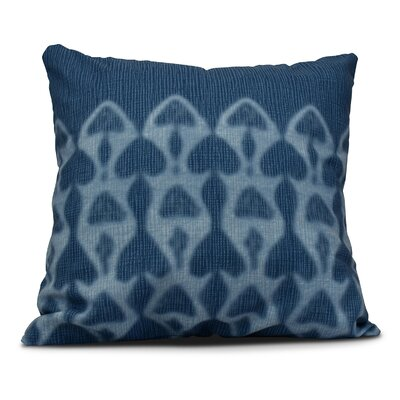 Rafia Watermark Throw Pillow Size: 18 H x 18 W, Color: Blue