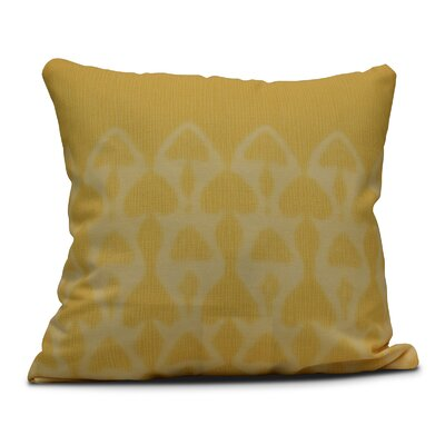 Viet Watermark Throw Pillow Size: 18 H x 18 W, Color: Yellow