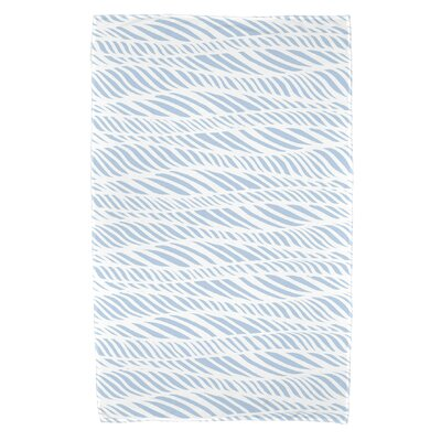 Viet Rolling Waves Bath Towel Color: Light Blue