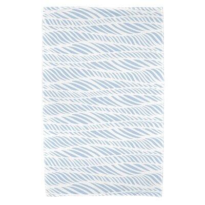 Viet Rolling Waves Bath Towel Color: Light Blue