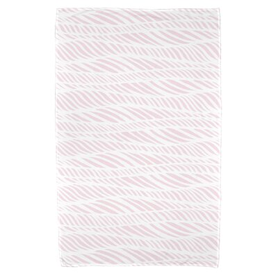 Viet Rolling Waves Bath Towel Color: Pink