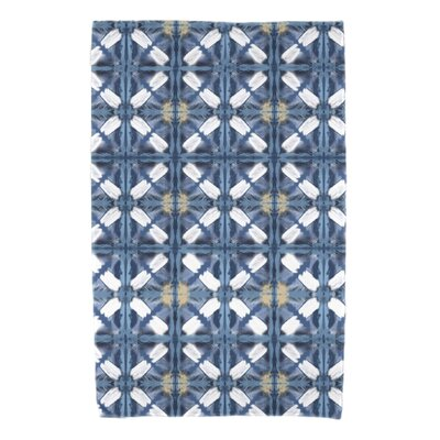Rafia Beach Tile Bath Towel Color: Blue