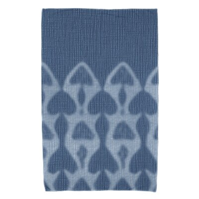 Rafia Watermark Bath Towel Color: Teal