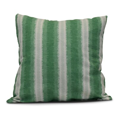 Navarro Lines Throw Pillow Color: Green, Size: 16 H x 16 W