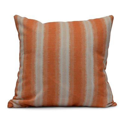 Rafia Sea Lines Throw Pillow Size: 16 H x 16 W, Color: Orange