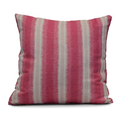 Navarro Lines Throw Pillow Size: 18 H x 18 W, Color: Pink