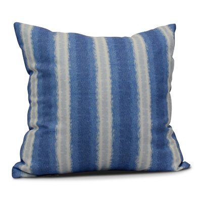 Rafia Sea Lines Throw Pillow Size: 16 H x 16 W, Color: Blue