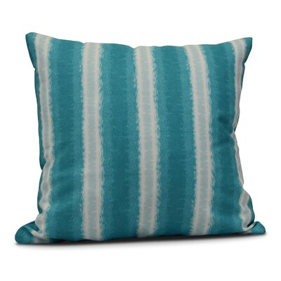 Navarro Lines Throw Pillow Size: 16 H x 16 W, Color: Teal