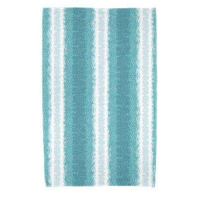 Navarro Lines Bath Towel Color: Teal