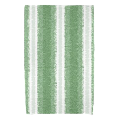 Rafia Sea Lines Bath Towel Color: Green