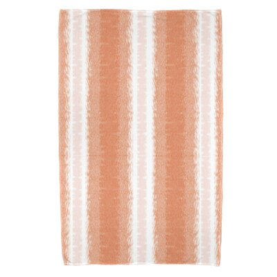 Rafia Sea Lines Bath Towel Color: Orange