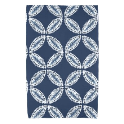 Rafia Tidepool Beach Towel Color: Blue