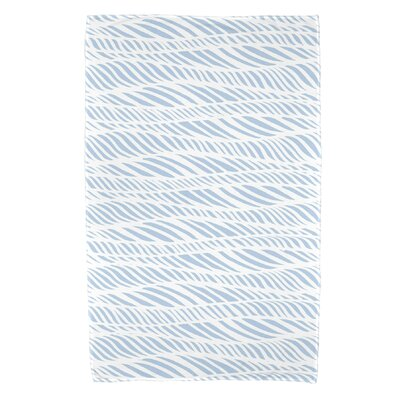 Rafia Rolling Waves Beach Towel Color: Light Blue