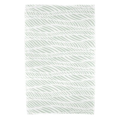 Viet Rolling Waves Beach Towel Color: Green