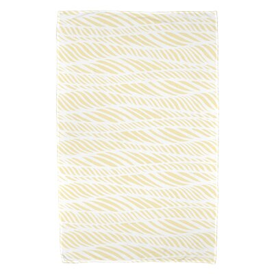 Viet Rolling Waves Beach Towel Color: Yellow