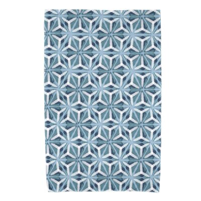 Viet Mosaic Beach Towel Color: Teal