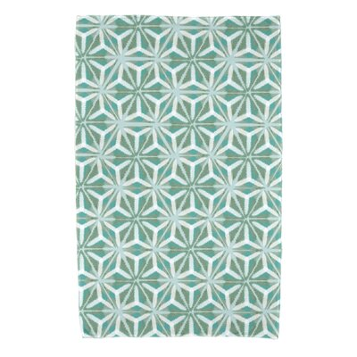 Rafia Water Mosaic Beach Towel Color: Aqua