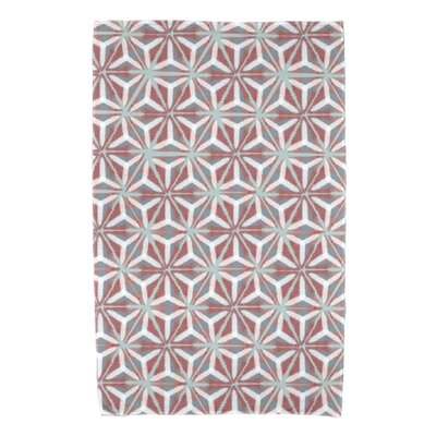 Viet Mosaic Beach Towel Color: Coral