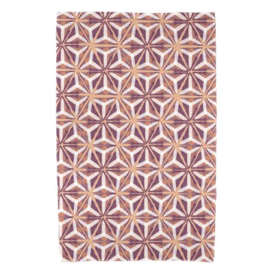 Rafia Water Mosaic Beach Towel Color: Purple