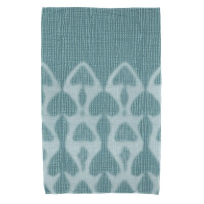 Rafia Watermark Beach Towel Color: Teal