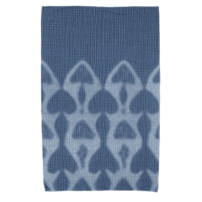 Rafia Watermark Beach Towel Color: Blue