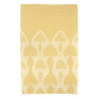 Rafia Watermark Beach Towel Color: Yellow