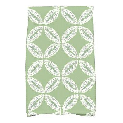 Rafia Tidepool Hand Towel Color: Green