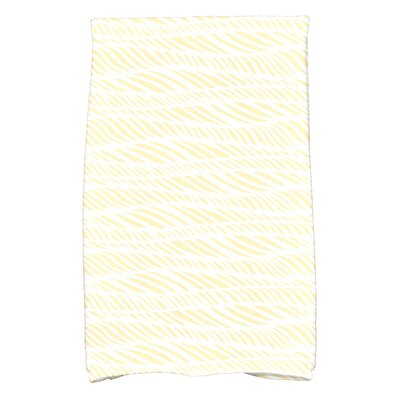 Viet Rolling Waves Hand Towel Color: Yellow