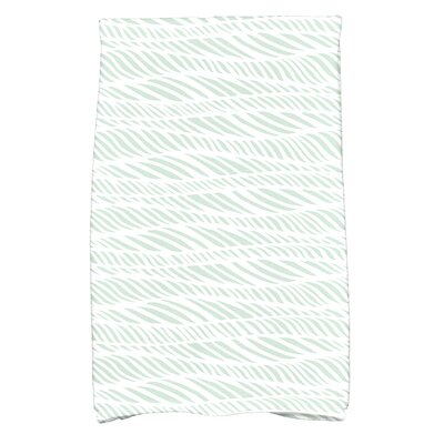 Viet Rolling Waves Hand Towel Color: Green