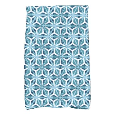 Viet Mosaic Hand Towel Color: Teal