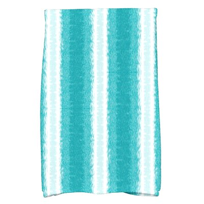 Rafia Sea Lines Hand Towel Color: Teal