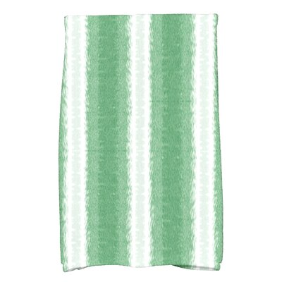 Rafia Sea Lines Hand Towel Color: Green