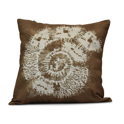 Rafia Conch Indoor/Outdoor Throw Pillow Size: 16 H x 16 W, Color: Brown