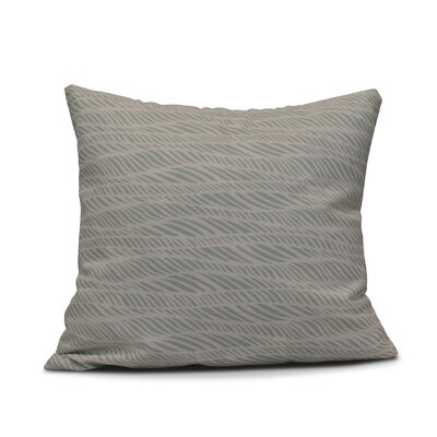 Viet Rolling Waves Indoor/Outdoor Throw Pillow Size: 20 H x 20 W, Color: Green
