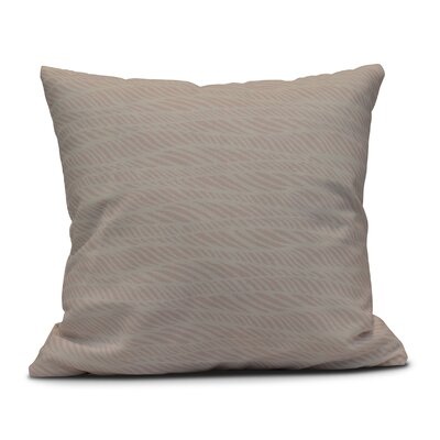Viet Rolling Waves Indoor/Outdoor Throw Pillow Size: 16 H x 16 W, Color: Pink