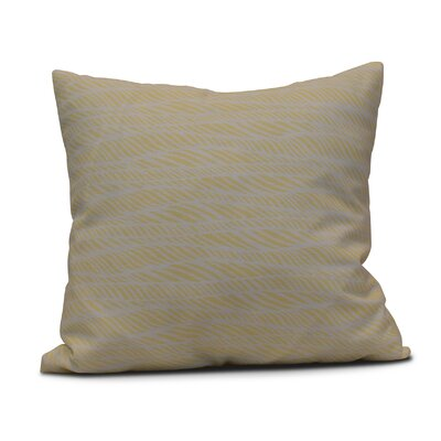 Viet Rolling Waves Indoor/Outdoor Throw Pillow Size: 20 H x 20 W, Color: Yellow