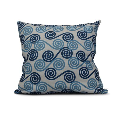 Nikkle Rip Curl Indoor/Outdoor Throw Pillow Size: 18 H x 18 W, Color: Blue
