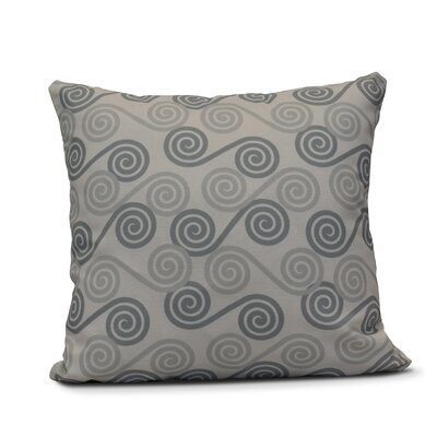 Nikkle Rip Curl Indoor/Outdoor Throw Pillow Size: 20 H x 20 W, Color: Gray