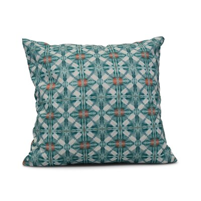 Viet Indoor/Outdoor Throw Pillow Color: Aqua, Size: 18 H x 18 W