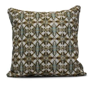 Rafia Beach Tile Indoor/Outdoor Throw Pillow Size: 16 H x 16 W, Color: Brown