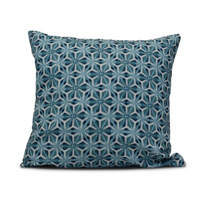 Rafia Water Mosaic Indoor/Outdoor Throw Pillow Size: 16 H x 16 W, Color: Teal