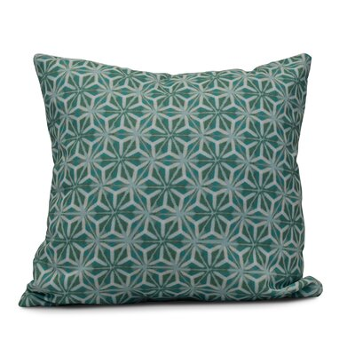 Viet Mosaic Indoor/Outdoor Throw Pillow Size: 18 H x 18 W, Color: Aqua